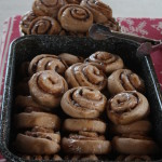 a rarely seen - FULL tray of cinnamon rolls from Living Culture Farm