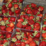 fresh, local strawberries